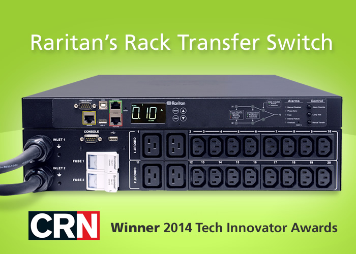 rack transfer switch winner crn 2014 tech innovator award