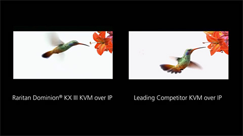 Raritan Dominion® KX III KVM-over-IP Video Quality Comparison