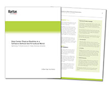Cover page of the data center infrastructure optimization white paper